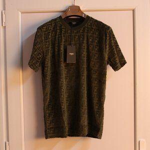 Fendi FF Monogram Khaki Summer T-Shirt